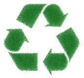 Riciclaggio dell'erba verde Fotografia Stock Libera da Diritti