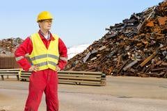 Riciclaggio dell'operaio Immagine Stock