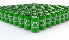 Riciclaggio della bottiglia della bevanda Fotografia Stock Libera da Diritti