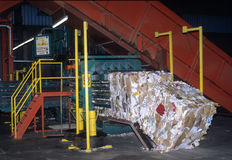 Riciclaggio della fabbrica Fotografie Stock Libere da Diritti