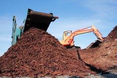 Riciclaggio della fibra di legno Immagine Stock Libera da Diritti