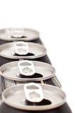 Riciclaggio della latta di alluminio Fotografie Stock Libere da Diritti
