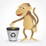 Riciclaggio della scimmia Fotografia Stock