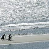 Riciclaggio della spiaggia Immagine Stock