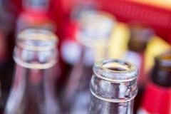 Riciclaggio delle bottiglie Fotografia Stock