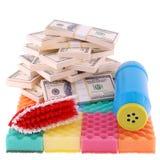 Riciclaggio di denaro sporco Fotografie Stock Libere da Diritti