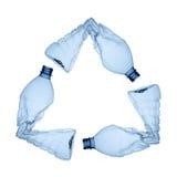 Riciclaggio di plastica Fotografie Stock Libere da Diritti