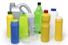 Riciclaggio di plastica Fotografia Stock