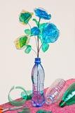 Riciclaggio di plastica Fotografia Stock Libera da Diritti
