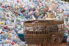 Riciclaggio di plastica fotografie stock
