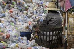 Riciclaggio di plastica immagine stock libera da diritti
