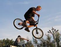 Riciclaggio di sport BMX della bicicletta Fotografia Stock Libera da Diritti