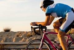 Riciclaggio di triathlon Fotografie Stock