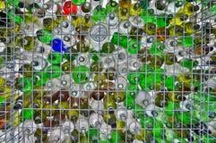 Riciclaggio di vetro Fotografie Stock Libere da Diritti