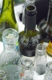 Riciclaggio di vetro Fotografia Stock