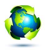 Riciclaggio globale Fotografia Stock