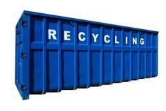 Riciclando commercio, contenitore ed ecologia isolati fotografia stock