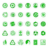 Ricicli e simboli dell'ambiente Fotografia Stock Libera da Diritti