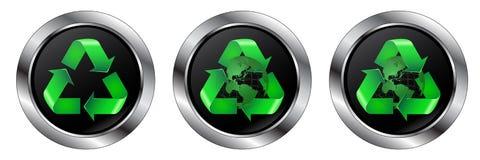 Ricicli i simboli Immagine Stock