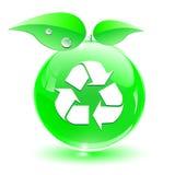Ricicli, icona verde Fotografia Stock