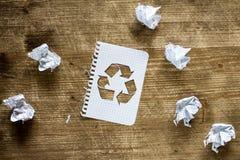 ricicli il concetto di carta Fotografia Stock