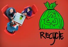 Ricicli il concetto verde amichevole di affari di Eco di riutilizzazione fotografia stock libera da diritti
