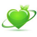 Ricicli il cuore Immagini Stock