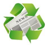 Ricicli il disegno del giornale Immagine Stock Libera da Diritti