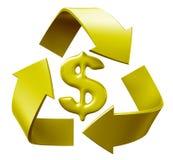 Ricicli il dollaro Fotografia Stock