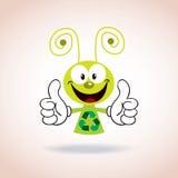 Ricicli il personaggio dei cartoni animati della mascotte Immagini Stock