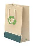 Ricicli il sacco di carta con riciclano il simbolo Fotografia Stock