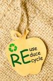 Ricicli il segno e riduca, riutilizzi, ricicli Fotografia Stock