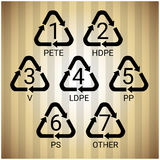 Ricicli il simbolo Logo Set Web Icon Immagini Stock Libere da Diritti