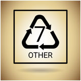 Ricicli il simbolo Logo Web Icon Fotografia Stock
