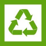 Ricicli il simbolo Logo Web Icon verde Immagini Stock Libere da Diritti