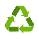 Ricicli il simbolo Logo Web Icon verde Fotografia Stock