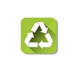 Ricicli il simbolo Logo Web Icon verde Fotografie Stock Libere da Diritti