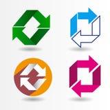 Ricicli il simbolo Ricicli il vettore di simbolo Ricicli l'immagine di simbolo Fotografia Stock Libera da Diritti