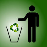 Ricicli il verde dei rifiuti Fotografia Stock