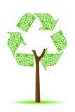 Ricicli l'albero Fotografia Stock Libera da Diritti