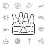 Ricicli l'icona delle bottiglie Illustrazione semplice dell'elemento Ricicli la progettazione di simbolo delle bottiglie dall'ins Immagini Stock Libere da Diritti