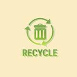 Ricicli l'icona di web di inquinamento dell'ambiente di Eco del recipiente Fotografia Stock Libera da Diritti