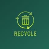 Ricicli l'icona di web di inquinamento dell'ambiente di Eco del recipiente Immagine Stock