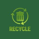 Ricicli l'icona di web di inquinamento dell'ambiente di Eco del recipiente Fotografia Stock