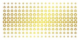 Ricicli la matrice di semitono dell'oro delle frecce Fotografia Stock Libera da Diritti
