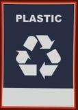 Ricicli la plastica Fotografie Stock Libere da Diritti