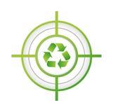 ricicli la progettazione dell'illustrazione di concetto del segno dell'obiettivo Fotografie Stock Libere da Diritti