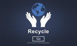 Ricicli la riutilizzazione riducono il concetto dell'ambiente di ecosistema illustrazione di stock