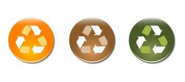 Ricicli le icone del distintivo di simbolo illustrazione vettoriale