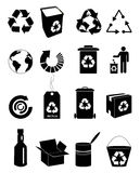 Ricicli le icone impostate Immagini Stock